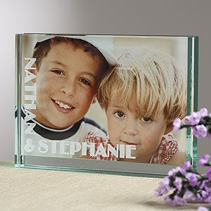 Glass Block Personalized Picture Frame - This Is Us Design - 5345
