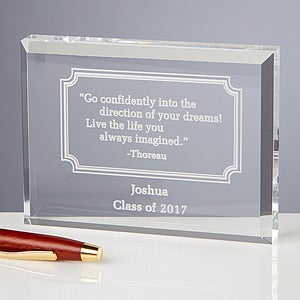 Personalized Inspirational Quotes Keepsake Gift - 5385