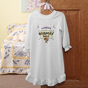 Personalization Mall Birthday Girl Personalized Nightgown at Sears.com