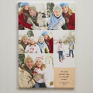 Our Memories Photo Montage Personalized Canvas Print - 5404