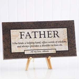 Words of Wisdom Personalized Canvas Art for Him - 5408
