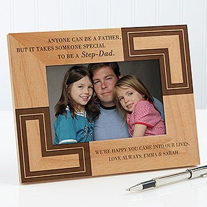 you are like a dad personalized step father picture frame 5421