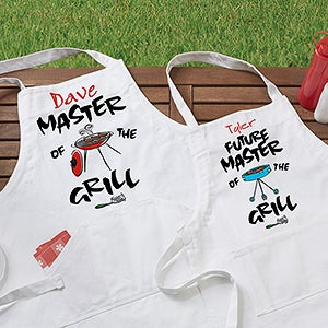 Master of the Grill Personalized Apron & Potholder Set - 5428