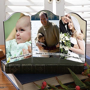 Personalization Mall Personalized Folding Photo Message Triple Plaque for Men at Sears.com
