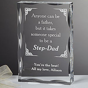 Personalized Step Father Keepsake Gift