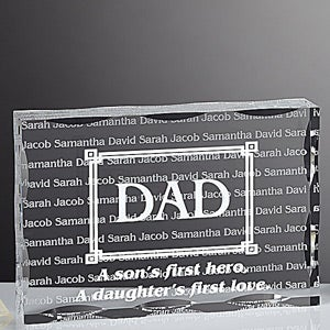 Personalized Gifts for Dad - First Hero, First Love Keepsake - 5436