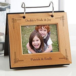 Personalized Flip Picture Album - Precious Memories Design - 5443