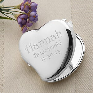 Personalization Mall Heart Mirror Compact Personalized Bridesmaids Gift at Sears.com