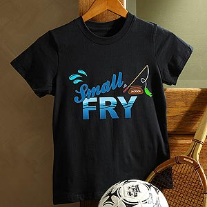 Personalization Mall Personalized Black Fishing T-Shirt for Boys - Small Fry at Sears.com