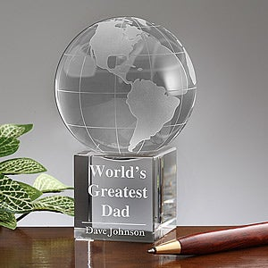 Personalized Crystal Globe Keepsake Gift - 5478