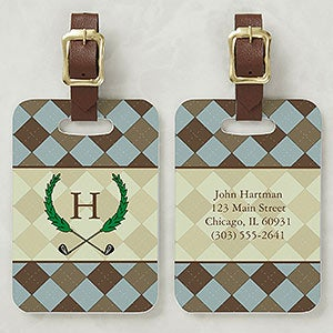 Golf Pro Personalized Golf Bag Address Tag - 5486