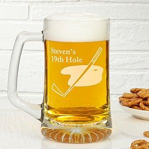 Golf Club Personalized Glass Beer Mug - 5488