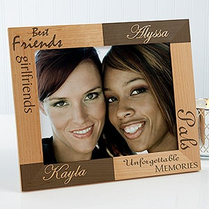 Personalized Best Friends Wooden Picture Frames - Engraved Free - 5518