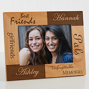 personalized best friends wooden picture frames engraved free 5518