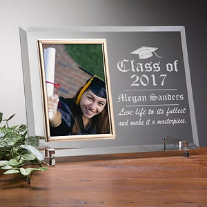 engraved glass photo frame graduation edition 5530