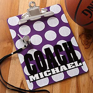 Personalized Basketball Coach Clipboard - 5537