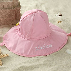 Personalized Pink Sun Hat for Baby Girls - 5550