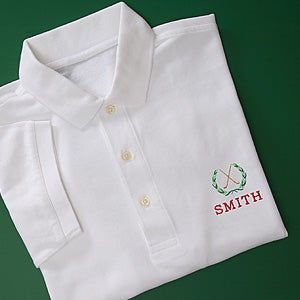 Personalization Mall Pro Shop Personalized Golf Polo Shirt - Golf Crest at Sears.com