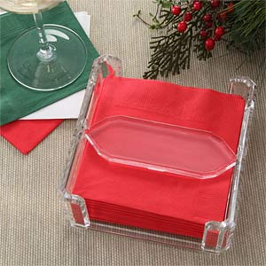Clear Acrylic Beverage Napkin Holder - 5566