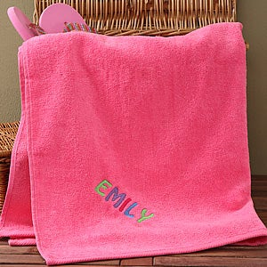 Personalization Mall Personalized Kids Pink Cotton Beach Towel at Sears.com