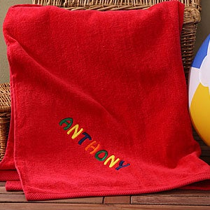 Personalization Mall Personalized Kids Beach Towels - Red at Sears.com