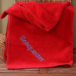 Personalization Mall Personalized Cotton Beach Towel - Red at Sears.com