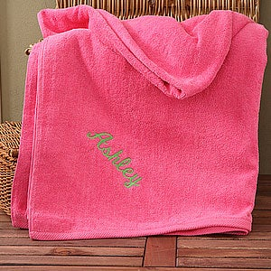 Personalization Mall Personalized Pink Cotton Beach Towel at Sears.com