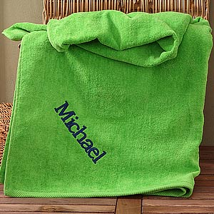 Personalization Mall Personalized Beach Towels - Green at Sears.com
