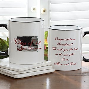 Personalized Graduation Coffee Mugs - Graduation Cap Design - 5614
