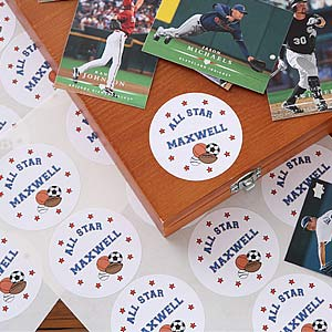 Personalization Mall Personalized Sports Stickers For Kids at Sears.com
