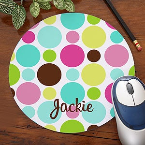 Personalized Computer Mouse Pads - Polka Dots - 5643