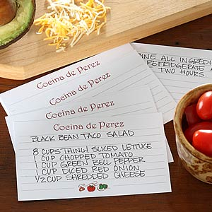 Family Kitchen Personalized Recipe Cards - 5672