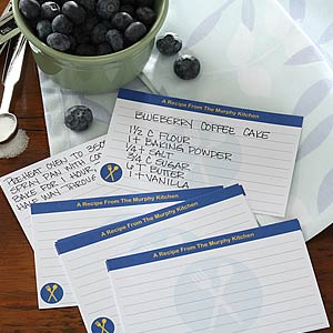 Personalized Recipe Cards - Cook's Choice - 5687