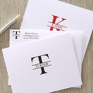 Custom Name Personalized Note Card Stationery - 5739
