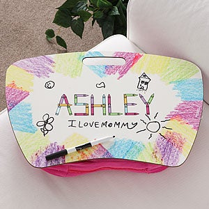 Personalization Mall Girls Dry Erase Board Personalized Lap Desk - Crayon Time at Sears.com