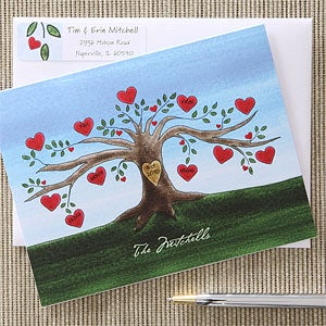 Family Tree Personalized Note Card Sets - 5751