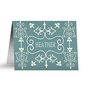 French Design Personalized Note Card Set - 5754