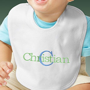 Personalization Mall Embroidered Name & Initial Personalized Baby Bib for Boys at Sears.com