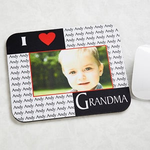Our Loving Hearts Personalized Photo Mousepad - 5836