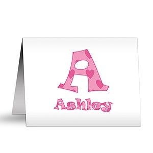 Personalized Kids Stationery - Alphabet Name Note Cards - 5847
