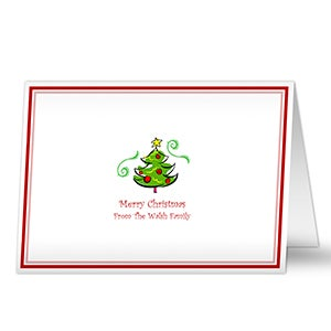 Seasons Greetings Personalized Christmas Cards - 5851