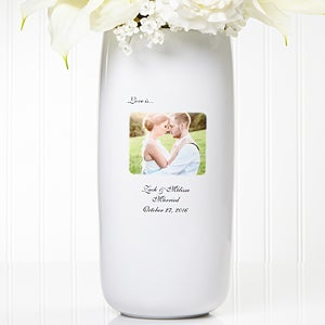 Personalized Wedding Photo Flower Vase - 5852