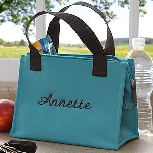 Personalization Mall Ladies Personalized Insulated Lunch Tote Bag - Teal at Sears.com