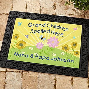 Grandchildren Spoiled Here Personalized Grandparent Doormat - 5862