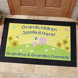 Grandchildren Spoiled Here Personalized Grandparent Doormat - 5862