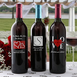 Personalized Wine Bottles For Wedding Gift : Personalized Wedding Wine Bottles - Wedding Gifts