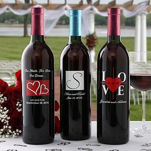 Engraved Wine Bottles For Wedding Gift : Personalized Wedding Wine BottlesWedding Gifts