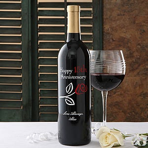 Personalized Anniversary Wine Bottles - 5890D