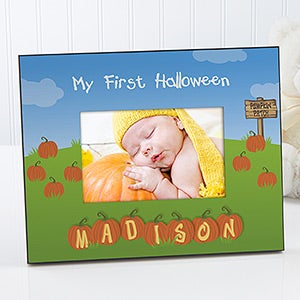 my 1st halloween personalized frame on sale today