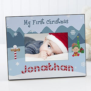 Personalized Baby Picture Frame on Baby S First Christmas Personalized Picture Frame   5911